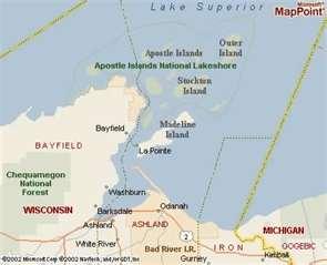 Madeline Island map