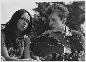 Bob Dylan and Joan Baez, 1963 March on Washington, USIA (NARA) public domain from the National Archives