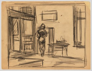 Hopper Study for Office at Night